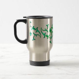 Green  Jacobean Vine Coffee Mug
