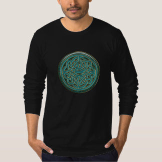Green Jade and Gold Metallic Celtic Knot T-Shirt