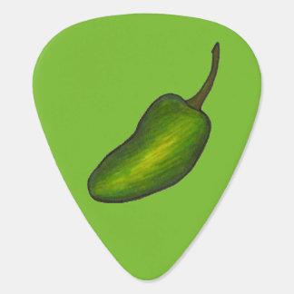 Green Jalapeño Pepper Hot Peppers Foodie Food Plectrum