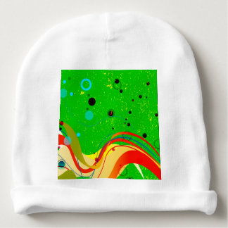 Green Jazz Background Baby Beanie