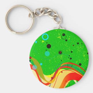 Green Jazz Background Basic Round Button Key Ring