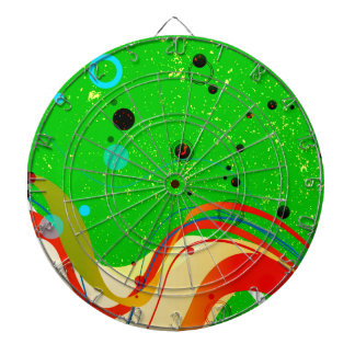 Green Jazz Background Dartboard
