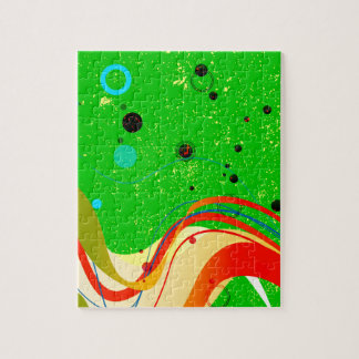 Green Jazz Background Jigsaw Puzzle