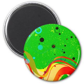 Green Jazz Background Magnet