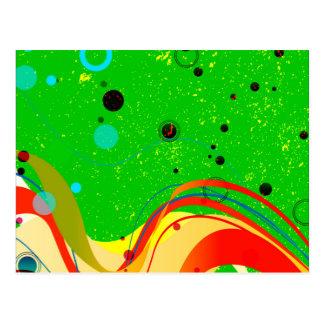 Green Jazz Background Postcard