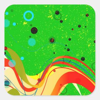 Green Jazz Background Square Sticker