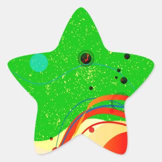 Green Jazz Background Star Sticker