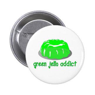 Green Jello Addict Pinback Button