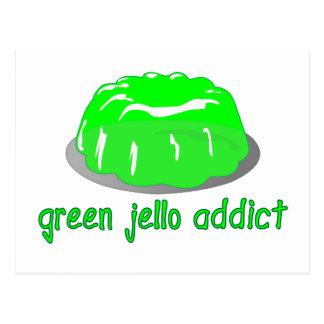Green Jello Addict Postcard