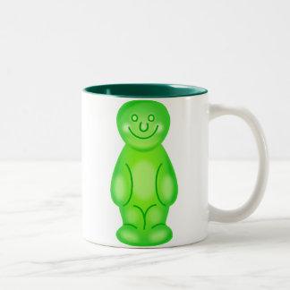 Green Jelly Baby Two-Tone Coffee Mug