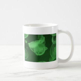 green jelly fish coffee mug