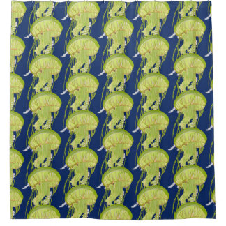 Green Jelly Fish Shower Curtain