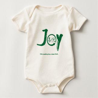 "Green joy kanji inside enso zen circle ""Joy"" Baby Bodysuit"