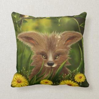 green jungle little fox American MoJo Pillows