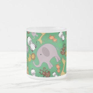 Green jungle safari animals coffee mug