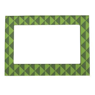Green Kale Greenery Arrow Pattern Geometric Magnetic Frame