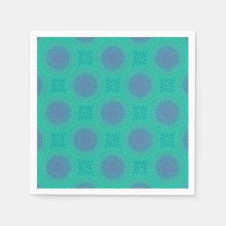 Green Kaleidoscope Paper Serviettes