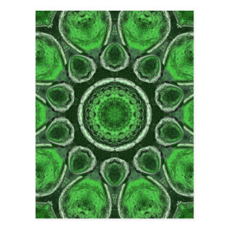 Green Kaleidoscope Postcard