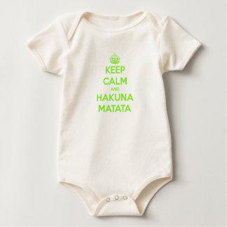 Green Keep Calm and Hakuna Matata Bodysuit