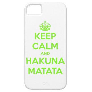 Green Keep Calm and Hakuna Matata iPhone 5 Case
