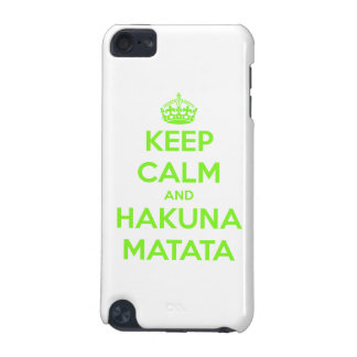 Green Keep Calm and Hakuna Matata iPod Touch (5th Generation) Cover