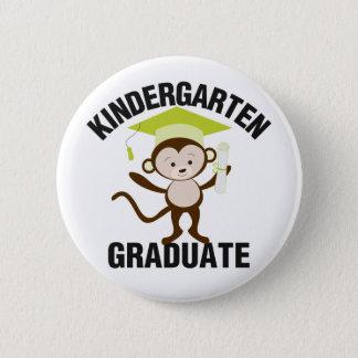 Green Kindergarten Graduate 6 Cm Round Badge