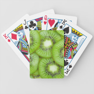 Green Kiwi Fruit Bicycle Playing Cards