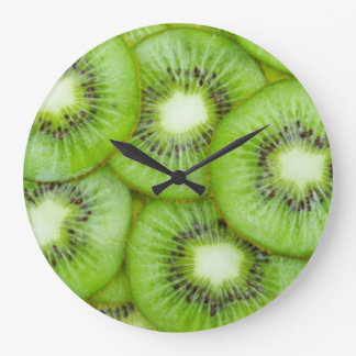 Green Kiwi Fruit Large Clock