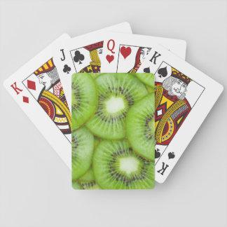 Green Kiwi Fruit Playing Cards
