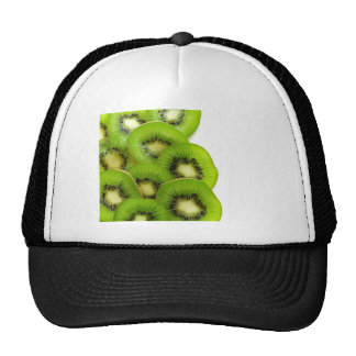 Green Kiwi Fruit Slices  - Fruit Print Cap