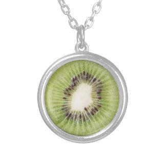 Green Kiwi Necklace Summer Pendant Fruit Food