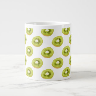 Green Kiwi Seamless Pattern Large Coffee Mug