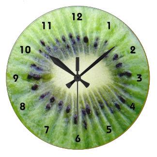 Green Kiwi wall Clock with numbers
