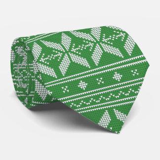 green Knit Jumper ugly Sweater Pattern Tie