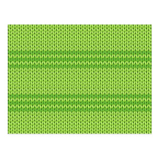 Green Knit Postcard