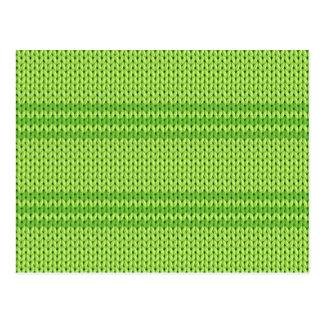 Green Knit Postcard