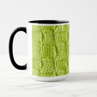 Green Knitted Mug