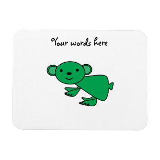 Green koala rectangular photo magnet