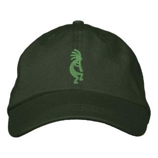 Green Kokopelli Embroidered Hat