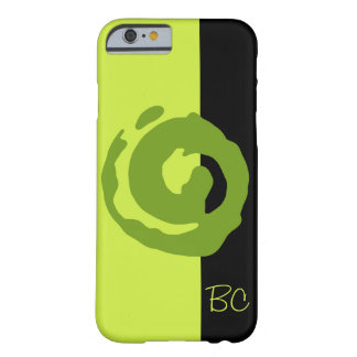Green Koru on Lime Green and Black Barely There iPhone 6 Case