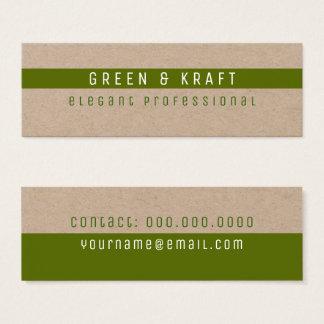 green & kraft elegant professional mini business card