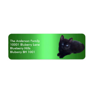 Green Label Return Address Black Cat