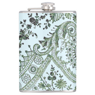 Green Lace Roses Flasks