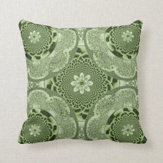 Green Lacy Weave American MoJo Pillow