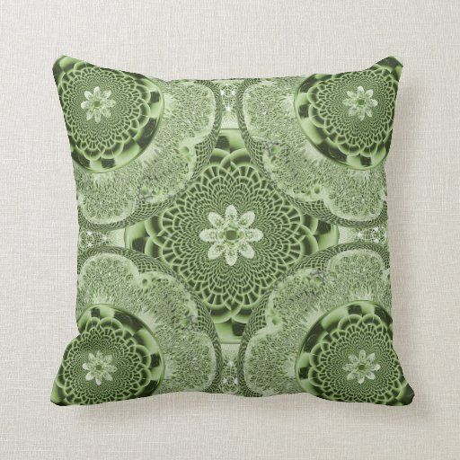 Green Lacy Weave American MoJo Pillow