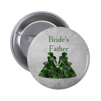 Green Ladies Lesbian Bride's Father Pin