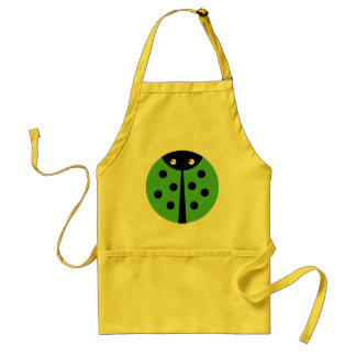 Green Ladybug Standard Apron