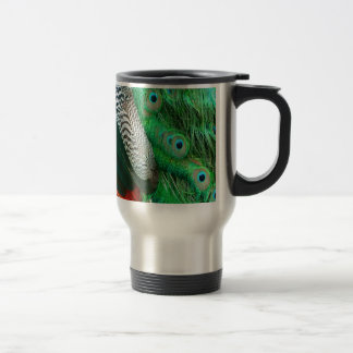 Green Lagoon Feathers Travel Mug