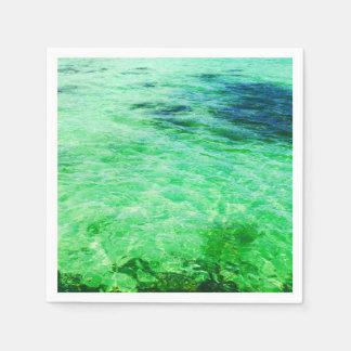 Green lagoon paper napkin