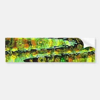 Green Lagoon Romance : Waves n Spectrum Bumper Sticker
